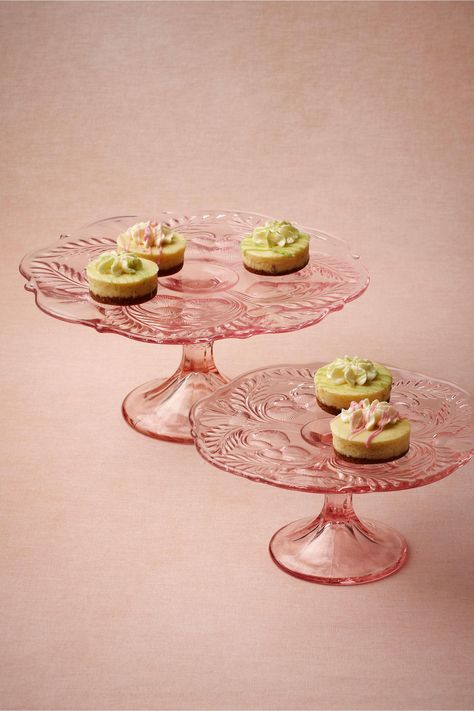 1950s retro cake stand on a foot decorated with pears
