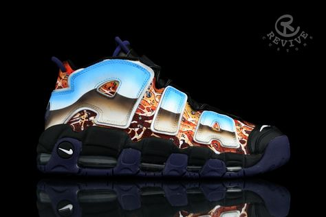 the best attitude 80921 e0683 Nike Air More Uptempo Popular Myth and Destruction of Sodom by Revive  Customs