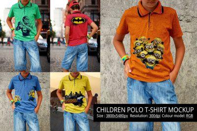 Download Children Polo T Shirt Mockup Psd Mockup Template Design Mockup Free Clothing Mockup Shirt Mockup