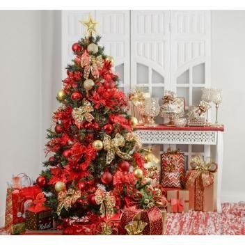 Kit Arvore De Natal Decorada 150cm C 43 Enfeites Cromus Loja