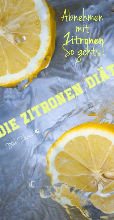 Fasten Zitronendiät zur Gewichtsreduktion