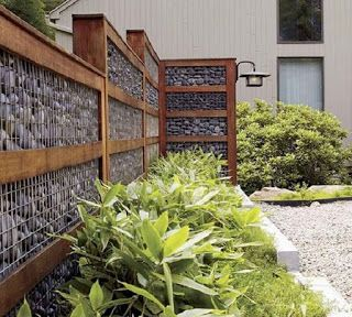 40 Fantastic Gabion Fence Design For Your Home And Garden Ideas Ara Home Fence Fenceideas Fencedesi Gabion Fence Privacy Fence Landscaping Fence Design