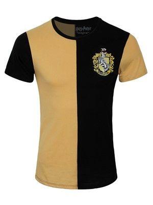 Harry Potter Hogwarts Crest Official Black Mens T-shirt