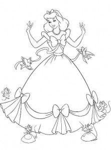 Prinzessin Cinderella Ausmalbilder Ausmalbilder Kostenlose