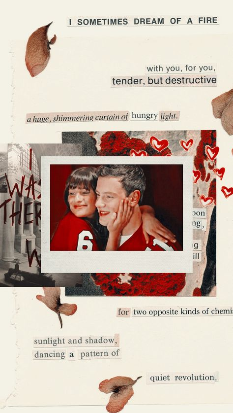Finchel lockscreen Glee Rachel Berry Finn Hudson