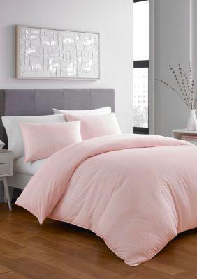 City Scene Penelope Comforter Set Open Lt Pastel Pink King In