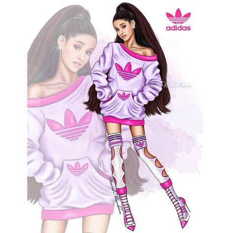 Ariana Grande LOOK 1 adidas Originals OR ? and by David Mandeiro Illustrations
