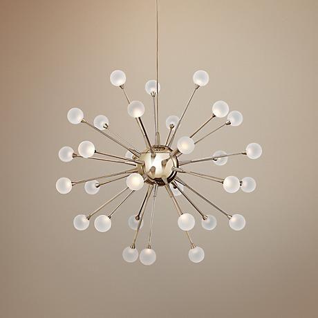 Frederick 10 Light Sputnik Modern Linear Chandelier