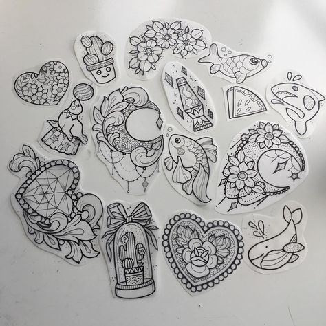 Designs for June appointments. Snap one up! ❤️⚡🔥#instatattoo #instadaily #instabest #instamood #inkedmag #drawing #design#cutetattoos…