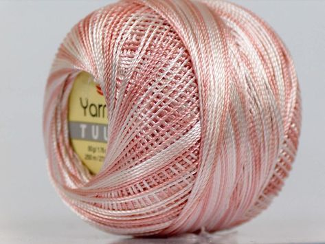 Red Silver Metallic Braid Thread Cross Stitch 20gr 207y YarnArt Camellia 17345