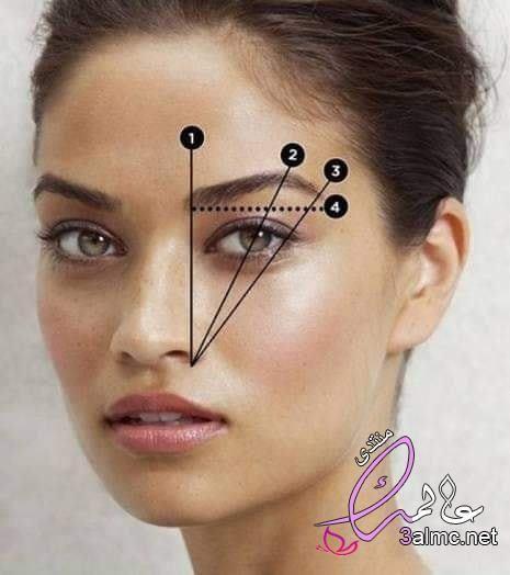 طريقة رسم الحواجب بالبيت بالصور طريقة رسم الحواجب والعيون اسهل طريقه لرسم الحواجب للمبتدئين كالمحترف Perfect Eyebrows Eyebrow Shaping Perfect Eyebrow Shape