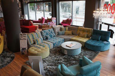 Cheap Sofas Mah Jong style sectional sofa Arianne Love FamaLiving Montreal Design Pinterest Sectional sofa Modern sectional and Contemporary furniture
