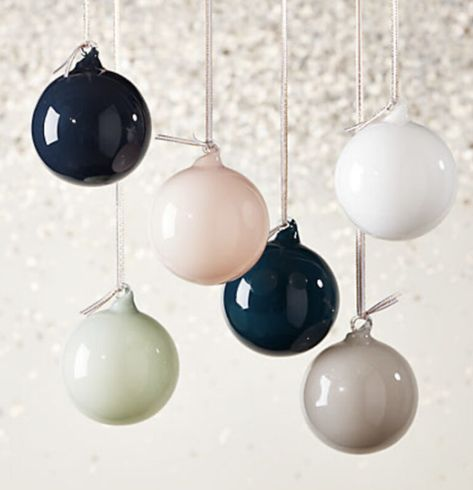 Holiday Finds | The East Coast Home Unique ornaments, opaque, colorful, stylish - I'm in love with these!