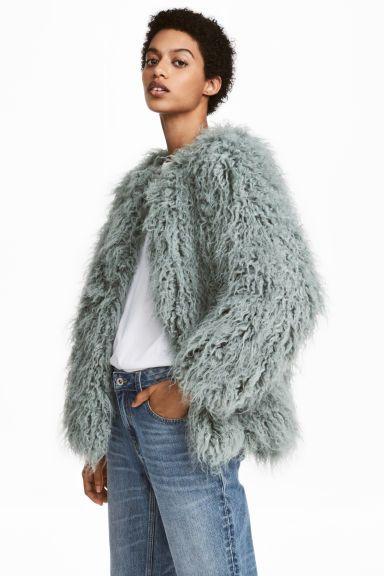 cheap price bright n colour recognized brands Faux fur jacket - Mint green - Ladies   H&M   Faux fur ...