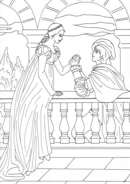 Pin By Drawing 4u On Best Drawing Idea Romeo Juliet Coloring