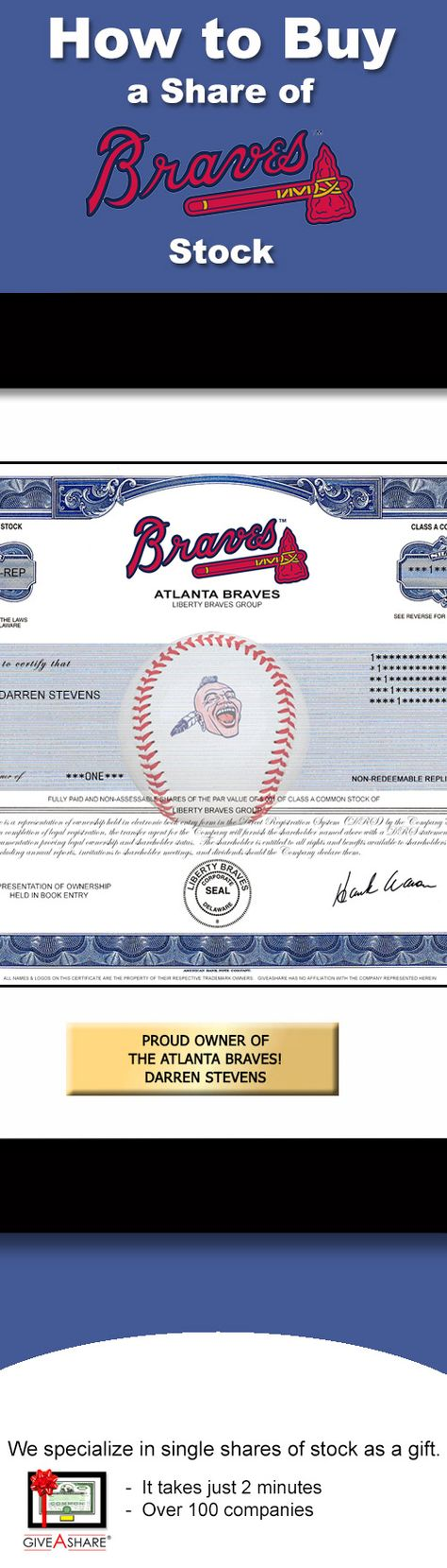 Perfect gift for a baseball fan, particularly an Atlanta Braves fan!