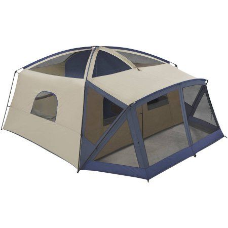 Ozark Trail 12 Person Cabin Tent With Screen Porch Walmart Com Cabin Tent Tent Cool Tents