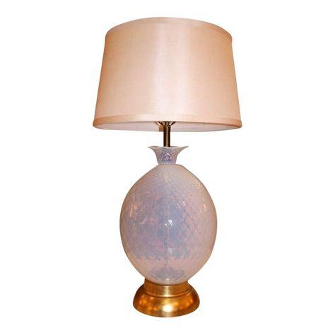 Vintage Glass Pineapple Table Lamp
