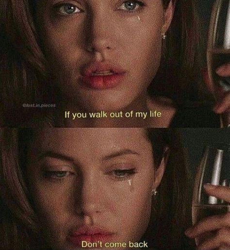 Si caminaste fuera de m vida, no vuelvas