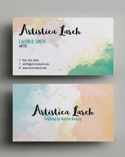 Artistic Business Card Template Visitenkarten Design