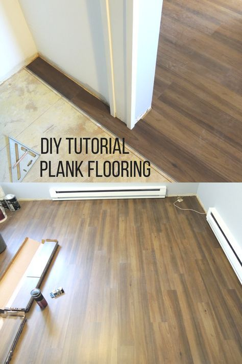 Vinyl Plank Flooring Tutorial No Nails No Glue With Images
