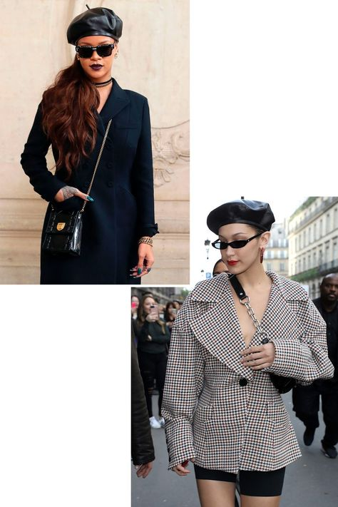 Style inspiration for how to wear a beret this winter.