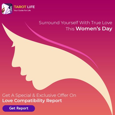 Love is confusing! Get your Love Compatibility Report to find the answers to all your questions about compatibility. Avail our special discounts this Women's Day! #lovecompatibility #lovetarot #womensday #women #internationalwomensday #womenempowerment #girlpower #feminism #womensupportingwomen #womeninbusiness #inspiration #love #womenpower #woman #happywomensday #womenempoweringwomen #pretty #fashionblogger #friends #womenstyle #tarot #tarotreading #lovereading #specialoffer #womensdayoffer