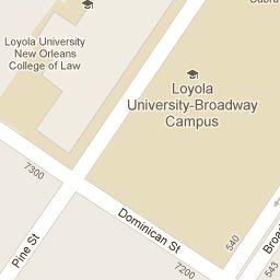 Loyola University New Orleans Map.Maps Directions Loyola University New Orleans Broadway Campus