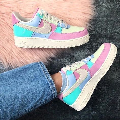Nike air force 1 shoes multicolor | Custom nike shoes, Sneakers ...
