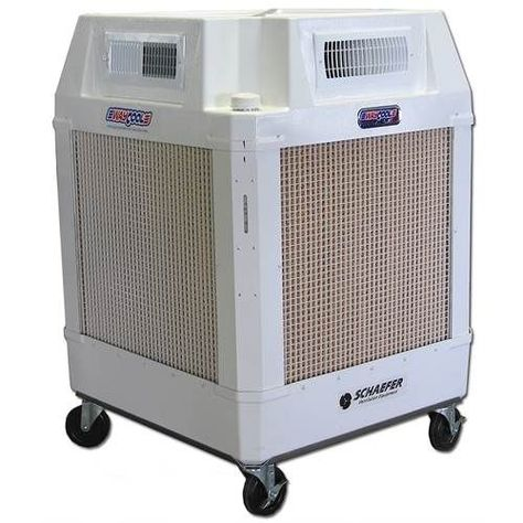 Schaefer Waycool 1 Hp 220v Portable Evaporative Manual Fill Cooler W 360 Degree Directional A Portable Air Conditioning Small Cooler Portable Air Conditioners