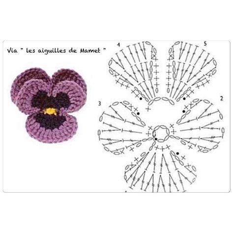 15 DIY Flower Crochet Chart Diagrams