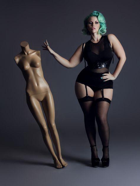 Elly Mayday, Canadian plus size model.