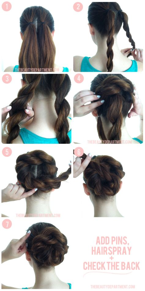 braided hair bun updo