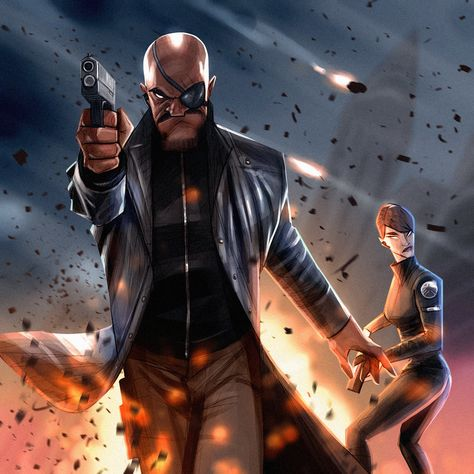 Nick Fury and Maria Hill, Evgeny Yurichev