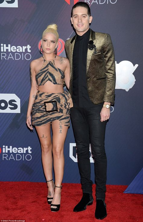 Halsey joins beau G-Eazy at 2018 iHeartRadio Music Awards