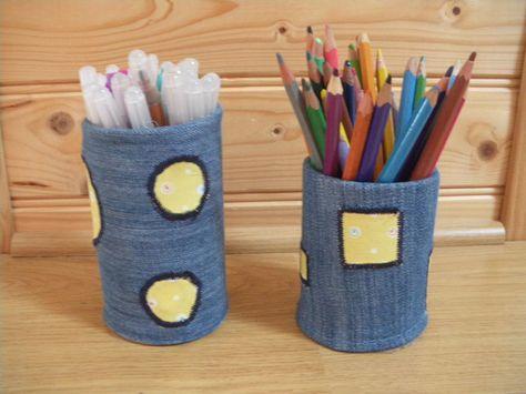 comment faire un pot à crayon récup | crayons