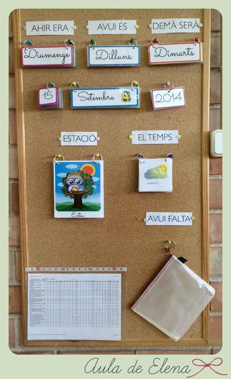 Calendario del Aula de Elena. Freebie listo para descargar.