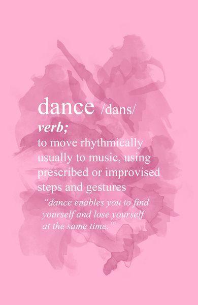 Dance Art Print @Irene Hoffman Hoffman Hoffman Hoffman Comella | #dance #quote
