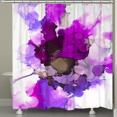 Latitude Run Haynie Radiant Jewel Tones Single Shower Curtain In