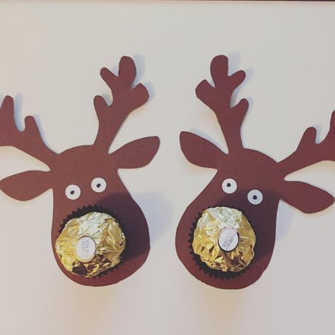 Rocher Rentier Plotten Basteln Weihnachten Weihnachtliche Geschenkkartchen Weihnachtsgeschenke Basteln