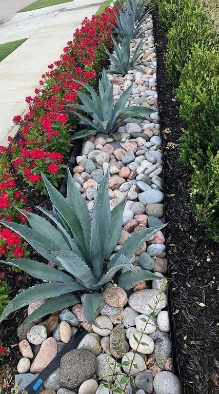 30 Modern Small Stone Landscaping Ideas In Front Yard