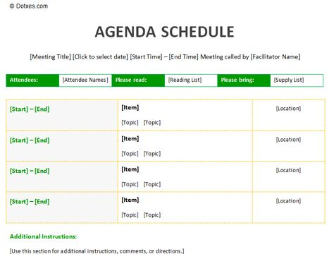 Meeting agenda schedule template to improve your meeting Agenda - sample meeting agenda