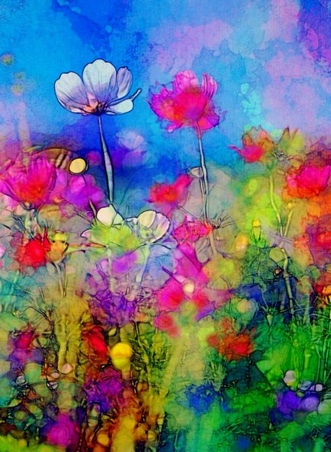 Imprimer De Fleurs Printemps Danse Abstrait Par Robinmeaddesigns