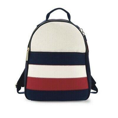 Tommy Hilfiger Vivian Backpack Colorblock Cotton Canvas Patriotic Ebay Tommy Hilfiger Tommy Hilfiger Vintage Backpacks