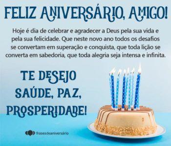 Mensagens de Aniversário para Amigo – Frases de Aniversário | Feliz  aniversário, Aniversário amigo, Aniversário mensagem