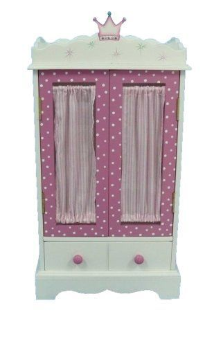 18 Inch Doll Wish Crown Storage Armoire, 18 Inch Doll Armoire