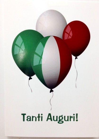 Tanti Auguri Best Wishes Geburtstag Italienisch