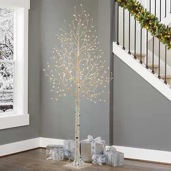 7 Faux Birch Tree Birch Tree Decor White Led Lights Twinkle Lights