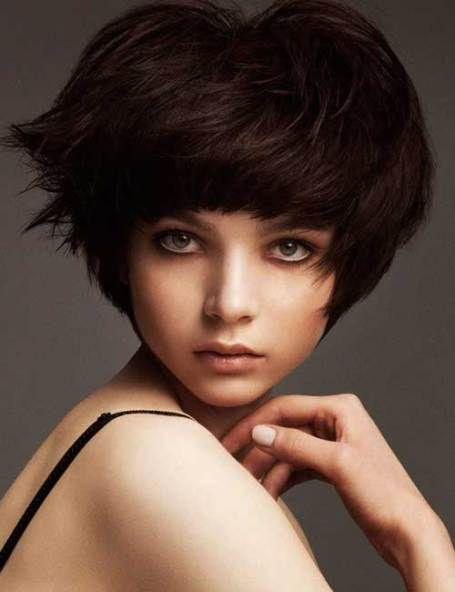 Short Cute Hairstyles For Thick Dark Pixie Bob