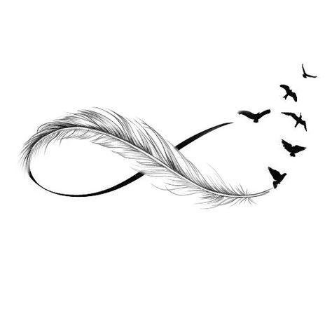 Wzór tatuażu piórko - łapacz snów - Monika - Wypożyczalnia Sprzętu Rehabilitacyjnego, tatuaże